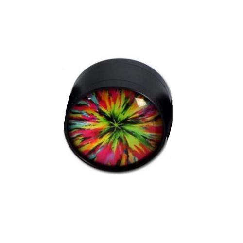 Grinder Glass Dome - Black Leaf - Design 5