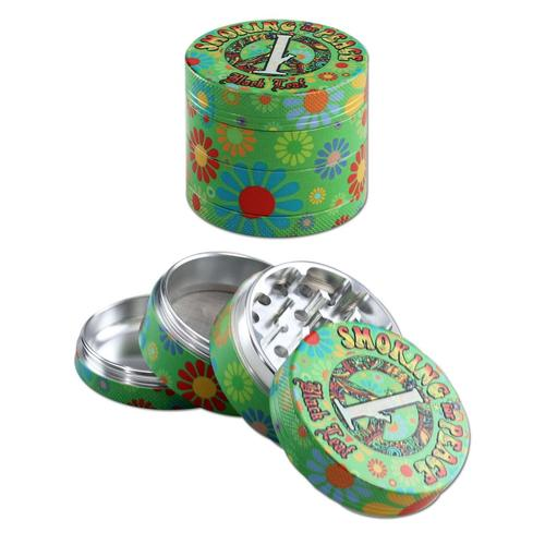 "Grinder alluminio BL ""Smoking for peace"" - Grinder alluminio BL ""Smoking for peace"""
