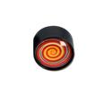 Grinder Glass Dome - Black Leaf - Design 3