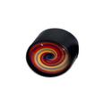 Grinder Glass Dome - Black Leaf - Design 4