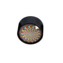 Grinder Glass Dome - Black Leaf - Design 1