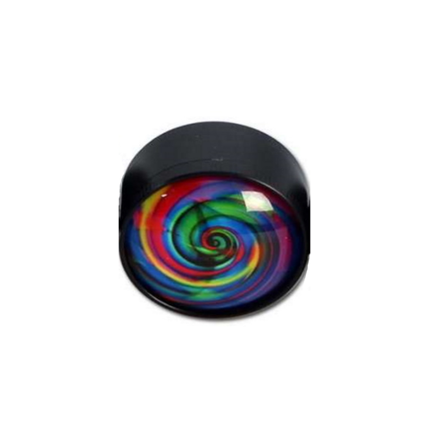 Grinder Glass Dome - Black Leaf - Design 2
